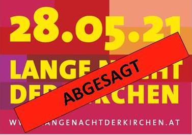 Lange Nacht der Kirchen 2021 - ABGESAGT